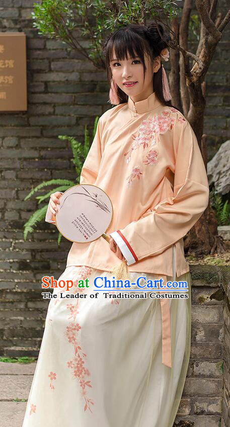 Chinese Ming Dynasty Princess Dress Clothing and Hair Jewelry Complete Set for Women and Girls