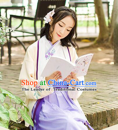 Chinese Han Dynasty Princess Dress Clothing and Hair Jewelry Complete Set for Women and Girls