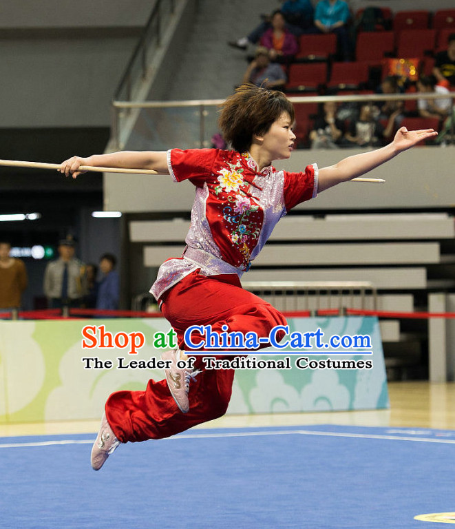 Top Wushu Competition Suits Southern Fist Tourament Qigong Kung Fu Training Karate Clothes Shaolin Outfit Martial Arts Uniform for Men Women Girls Boys Kids Adults