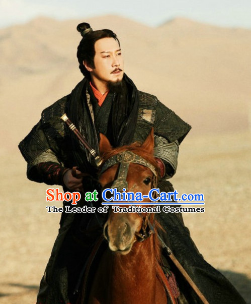 0808216a0a Ancient Chinese Han Dynasty Emperor Clothing Complete Set for Men