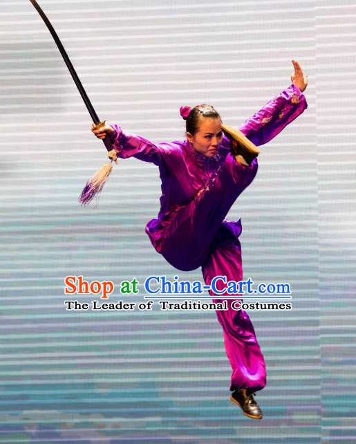 Traditional Tai Chi Kungfu Master Martial Arts Wushu Uniform Kung Fu Outfit for Men Women Boys Girls Kids