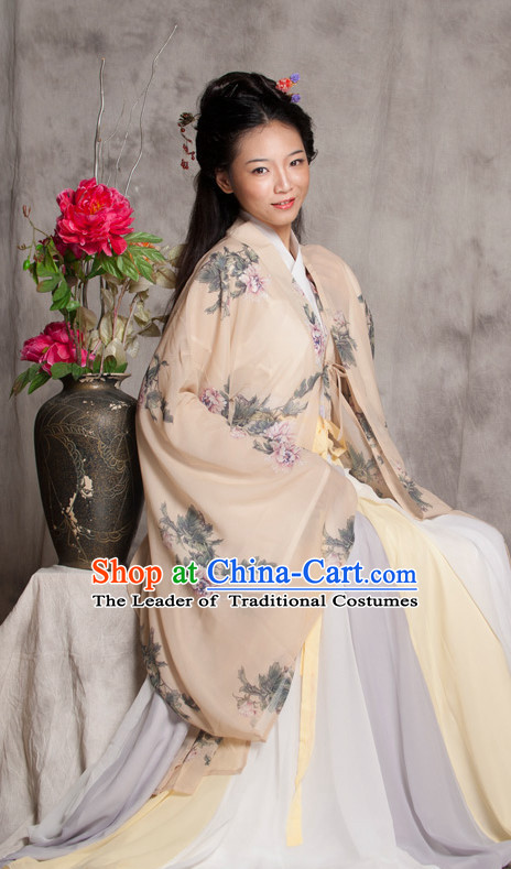 Chinese Costume Ancient Chinese Costumes Japanese Korean Asian Fashion Han Dynasty Princess Han Fu Suits Outfits Garment Dress Clothes for Women