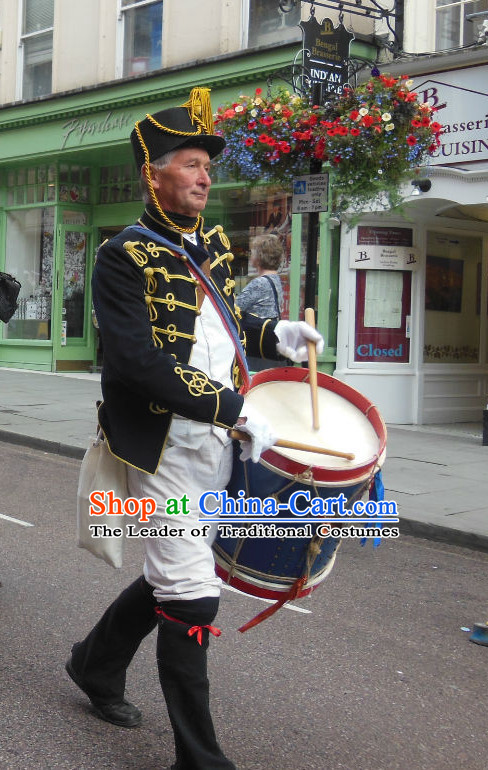 England Drum Player Folk Costume Traditional Garment Classic Clothing Complete Set for Men