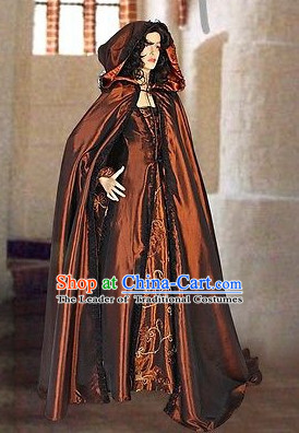 Traditional Medieval Costume Renaissance Costumes Historic Princess Empress Queen Clothing Complete Set for Women
