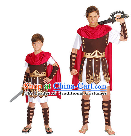 Ancient Spartan Warrior Kids Adults Costume for Men and Boys
