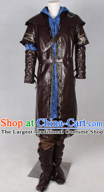 Ancient Medieval Costumes Viking Warrior Costume for Men Boys Kids Adults
