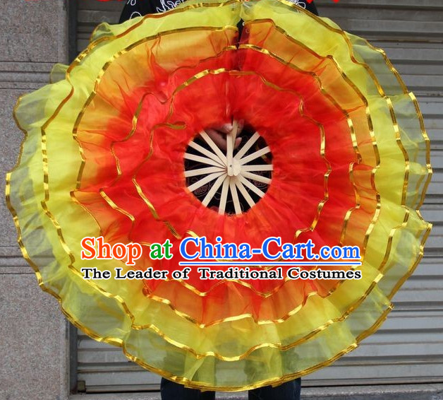 360 Degree Gauze Dance Fan