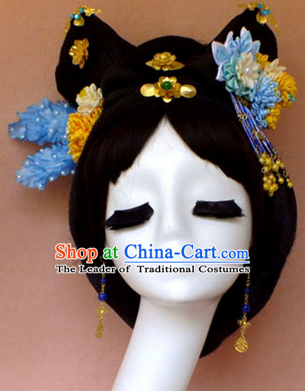 Chinese Empress Princess Queen Hair Accessories Hair Jewelry Fascinators Headbands Hair Clips Bands Bridal Comb Pieces Barrettes