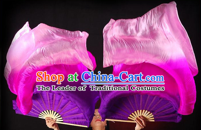 1.5 Meters Long Color Change Chinese Dance Belly Dance Hand Fans Hand Fan Japanese Wedding Fans Oriental Fan