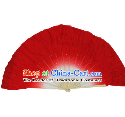 19 Inches Pure Silk Color Change Chinese Dance Belly Dance Hand Fans Hand Fan Japanese Wedding Fans Oriental Fan