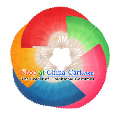 17 Inches Color Change Chinese Peacock Fan Dance Belly Dance Hand Fans Hand Fan Japanese Wedding Fans Oriental Fan
