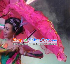 Traditional Peony Flower Dance Umbrella Dancing Umbrellas