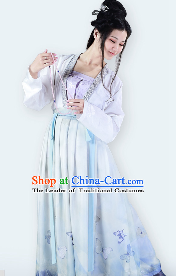 Chinese Classic Han Dynasty Clothing and Hair Jewelry Complete Set for Women