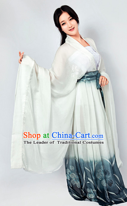 Chinese Classical Han Dynasty Clothing and Hair Jewelry Complete Set for Women