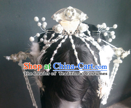 Ancient Chinese Princess Wigs Toupee Wigs Human Hair Wig Hair Extensions Sisters Weave Cosplay Wigs Lace