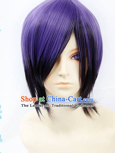 Ancient Asian Korean Japanese Chinese Style Male Wigs Toupee Wig  Hair Wig Hair Extensions Sisters Weave Cosplay Wigs Lace for Men
