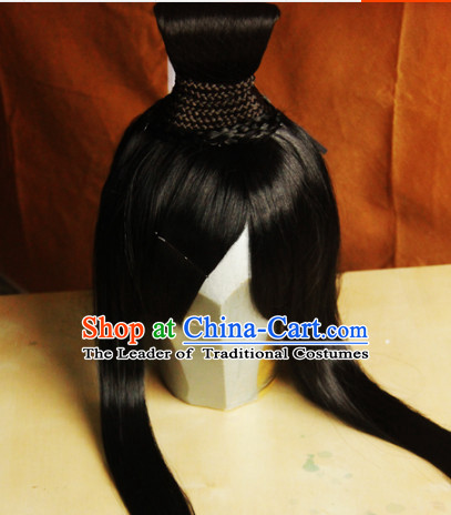 Ancient Chinese Male Wigs Toupee Wigs Human Hair Wigs Hair Extensions Sisters Weave Cosplay Wigs Lace Hair Pieces and Accessories for Men