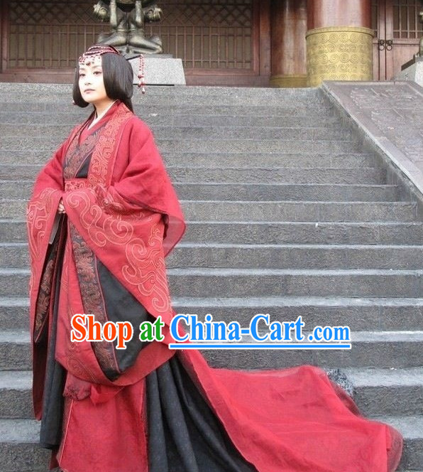 China Ancient Han Princess Costumes with Long Tail