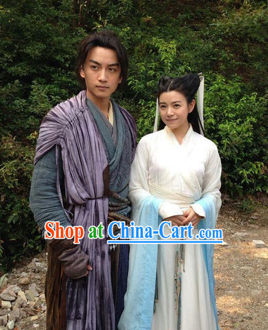 Yang Guo and Xiao Long Nv Asian Clothing 2 Sets