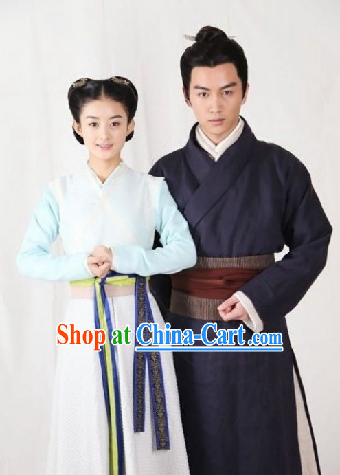 China Swordsman and Swordswoman Clothes Complete Set