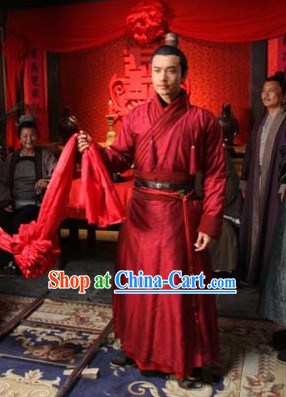 Ancient Chinese Wedding Bridegroom Dresses Movie Costumes for Men