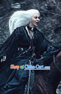 Ancient Chinese White Witch Legend Costumes from Movies