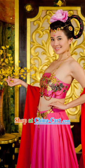 Chinese Classic Dance Costumes Movies Costume and Hair Accessories
