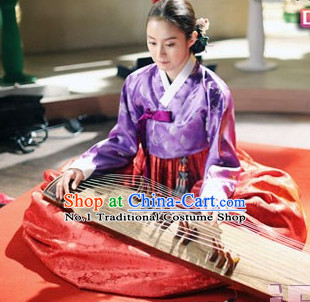 Korean Princess Hanbok Dress and Hair Accessory for Women