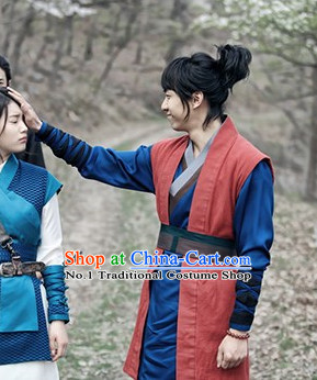 Korean TV Drama Swordsman Costumes and Headwear for Men
