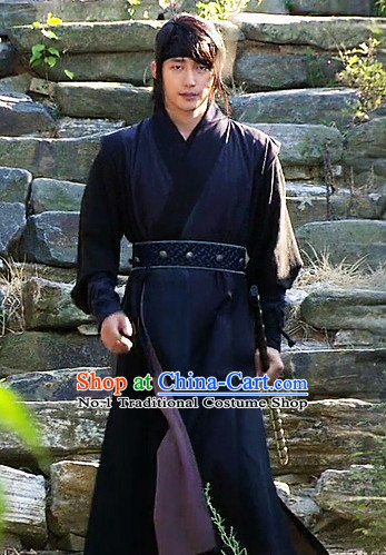 Black South Korean Male Warrior Costumes Korean Warrior Dress