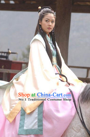 Traditional Korean Princess Film Costumes for Girls and Women