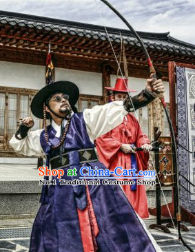 Traditional Korean Archer Costumes for Men