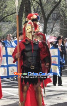 Traditional Greek General Armor Costumes and Helmet Complete Set
