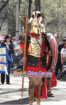 Ancient Greek General Armor Costumes and Helmet Complete Set