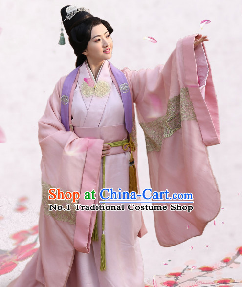 Chinese Traditional Princess Dresses and Hair Accessories Complete Set