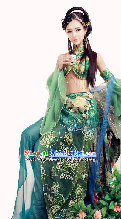 Asian Peacock Queen Costumes for Ladies