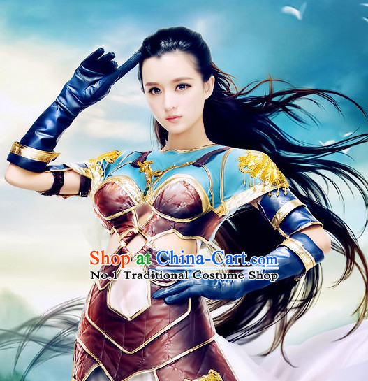 China Sexy Female Fighter Cosplay Costumes Complete Set