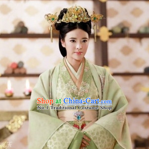 Traditional Empress Clothing and Hair Decorations Complete Set