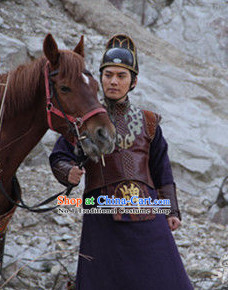 China Ancient Bodyguard Official Costumes and Hat