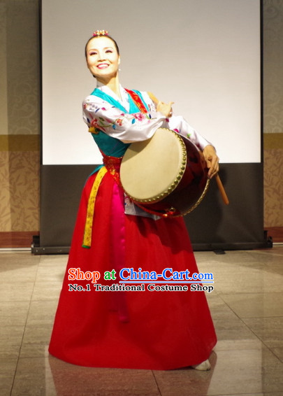 Korean Traditional Drum Dance Costumes for Women