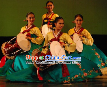 Korean Traditional Hanbok Drum Costumes for Women