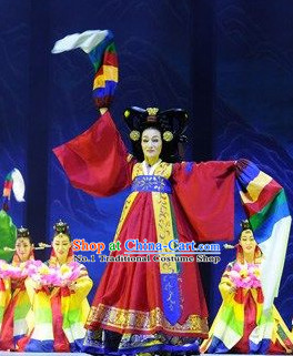 Korean Traditional Stage Performance Dance Costumes