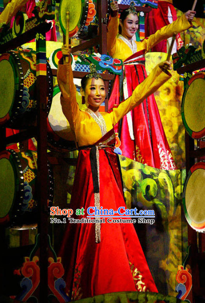 Korean Traditional Stage Performance Dance Costume for Women