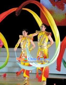 Chinese Traditional Ribbon Dance Costumes for Men