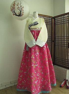 Asian Fashion Korean Hanbok Suit for Women