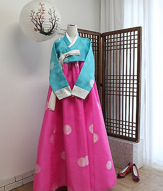 Asian Fashion Korean Hanbok Dress for Women