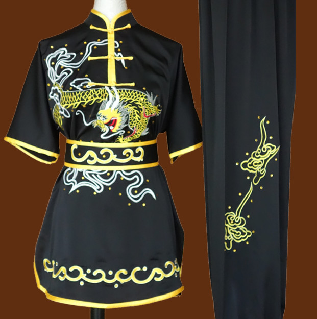 Top Dragon Embroidery Martial Arts Competition Clothes Complete Set