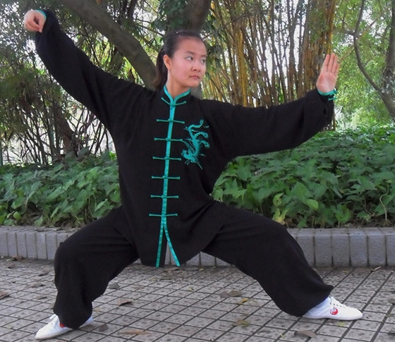 Phoenix Embroidery Wing Chun Kung Fu Uniforms for Women