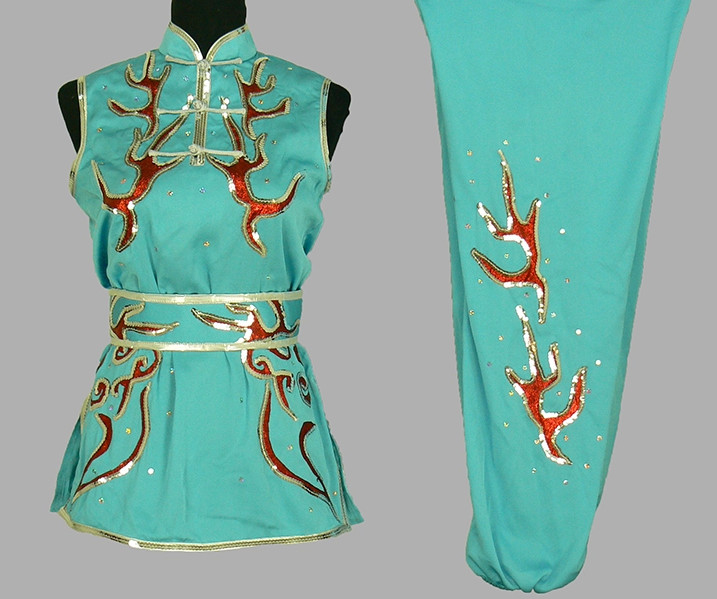 Top Nanquan Sleeveless Kung Fu Marshal Arts Uniform Complete Set