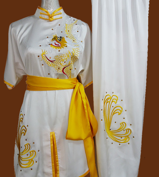 Kung Fu Dragon Embroidery Suit Training Kung Fu Costume Kung Fu Class